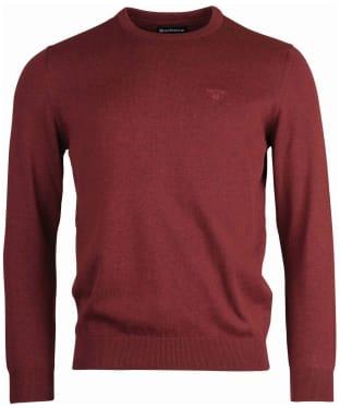 Men's Barbour Pima Cotton Crew Neck Sweater - Cabernet