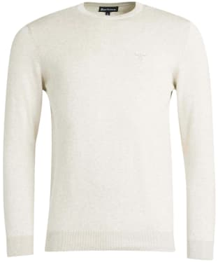 Men's Barbour Pima Cotton Crew Neck Sweater - Antique White