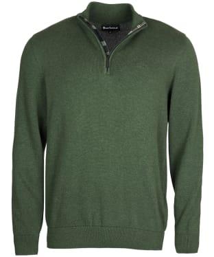 Men's Barbour Avoch Half Zip Sweater - Duffle Green