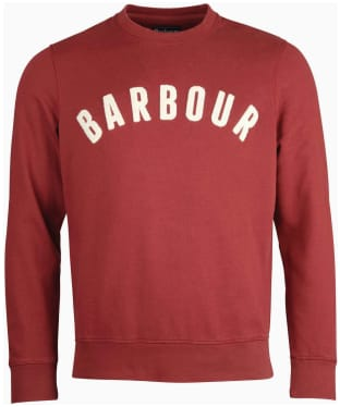 Men's Barbour Prep Logo Crew Sweater - Cabernet