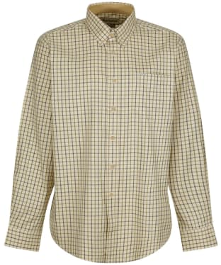 Men's Barbour Sporting Tattersall Shirt - Long Sleeve - Navy / Olive 2
