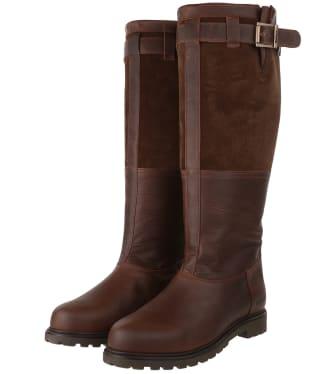 Women's Barbour Acorn Boots - Dark Brown