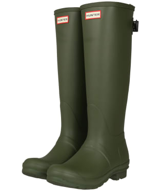 Women's Hunter Original Back Adjustable Wellington Boots - Ismarken Olive/Arctic Moss Green
