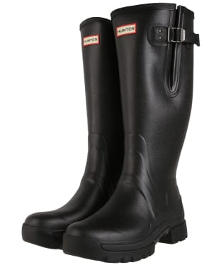 Men's Hunter Balmoral Side Adjustable Neo Lined Tech Sole Boots – Tall - Black