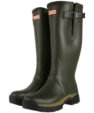Men's Hunter Balmoral Side Adjustable Neo Lined Tech Sole Boots – Tall - Dark Olive