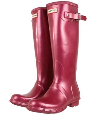 Women's Hunter Original Tall Nebula Boots - Hayes Burgundy