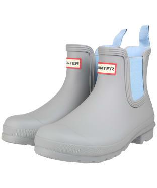 Women's Hunter Original Chelsea Boots - Tundra Grey / Blue