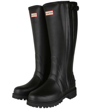 Women's Hunter Balmoral Full Zip Commando Sole Boots – Tall - Black