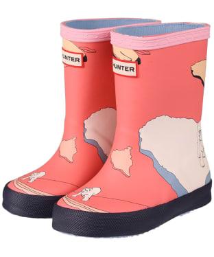 Kids Hunter Original First Classic Iceberg Print Boots - Iceberg Polaris Pink