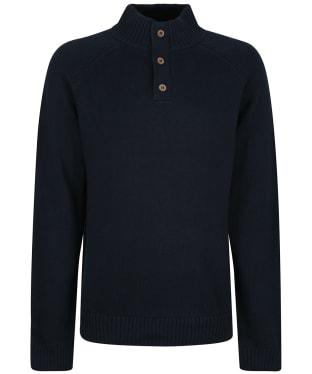Men's Tentree Highline Mock Neck Sweater - Midnight Blue Heather