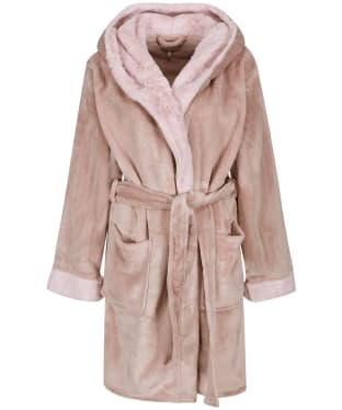 Women's Joules Helena Faux Fur Dressing Gown - Ruby Pink