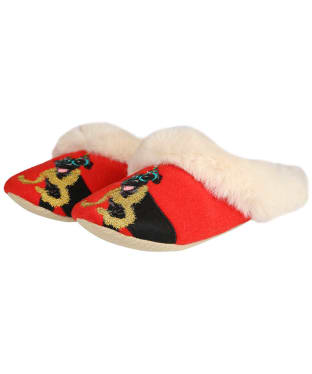 Women's Joules Slippet Luxe Slippers - Xmas Dog