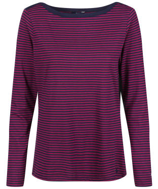 Women's Joules Shelby Top - Navy / Berry Stripe
