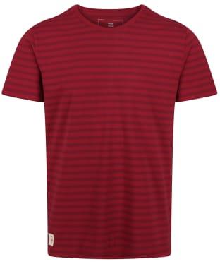 Men's Globe Horizon Striped Tee - Rhubarb