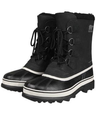 Men's Sorel Caribou Waterproof Boots - Black / Dark Stone