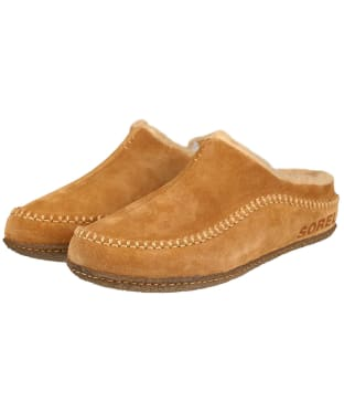 Men's Sorel Lanner Ridge Slippers - Camel Brown / Curry