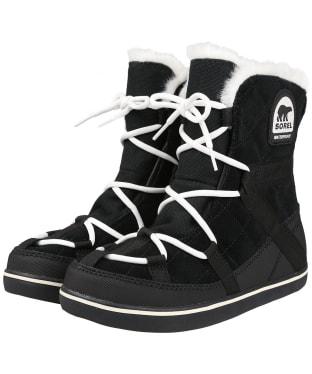 Women's Sorel Glacy Explorer Shortie Waterproof Boots - Black