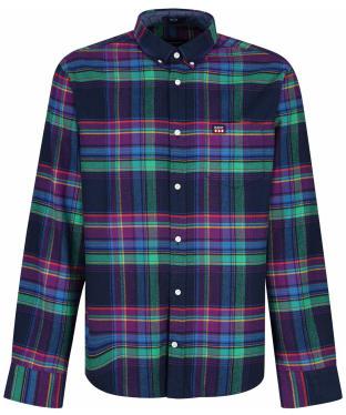 Men's GANT UT Flannel Check Shirt - Evening Blue