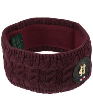 Women's Holland Cooper Luxe Cable Knit Headband - Mulberry