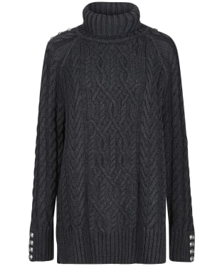 Women's Holland Cooper Greenwich Cable Knit - Dark Grey Marl