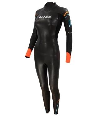 Women's Zone3 Aspect 'Breaststroke' Wetsuit - Black / Blue / Orange