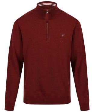 Men's GANT Super Fine Zip Sweater - Royal Port Red