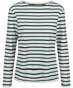 Women's Seasalt Sailor Shirt - Duet Breton Chalk Sea Rocket