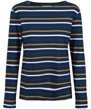 Women's Seasalt Sailor Shirt - Tri Breton Rich Blue