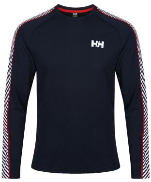 Men's Helly Hansen Lifa Active Stripe Crew Baselayer - Navy