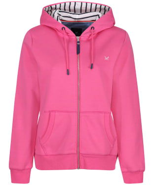 Women's Crew Clothing Zip Through Hoodie - Pink