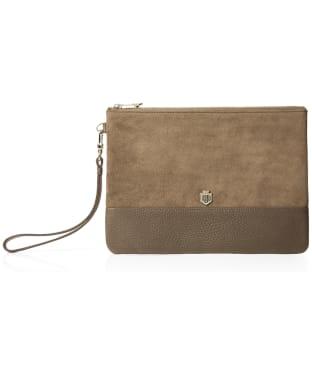 Women's Fairfax & Favor Highbury Clutch Bag - Taupe Suede