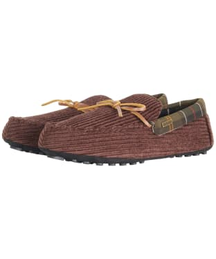 Men's Barbour Tueart Polyester/Suede Slippers - Brown Cord