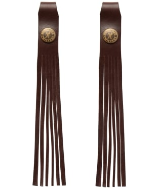 Women's Penelope Chilvers Simple Leather Tassels - Bitter Chocolate