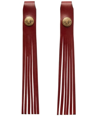 Women's Penelope Chilvers Simple Leather Tassels - Cherry