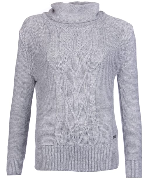 Women's Barbour Caraway Knit Sweater - Grey Marl
