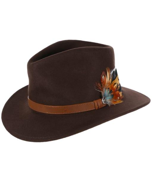 Alan Paine Richmond Unisex Felt Hat - Brown