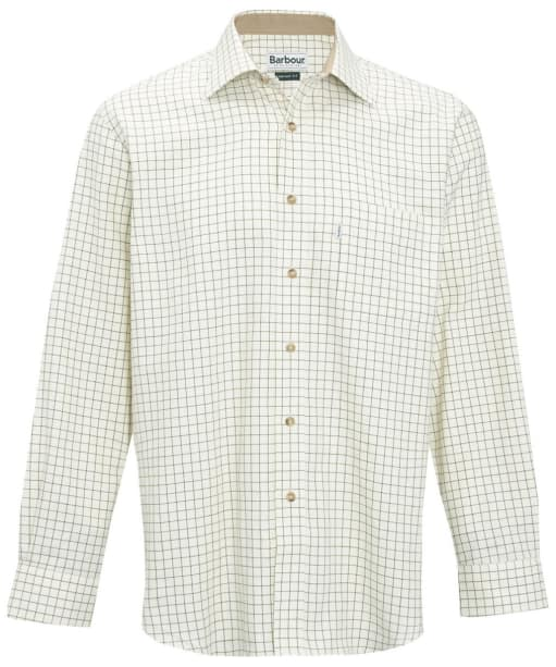 Men's Barbour Field Tattersall Shirt - Classic collar - Green / Brown
