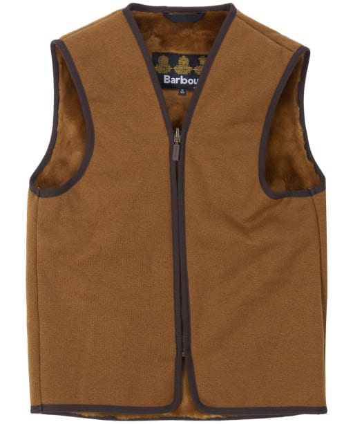 Barbour Children's Beaufort Waistcoat / Zip-in Liner, 2-9yrs - Brown