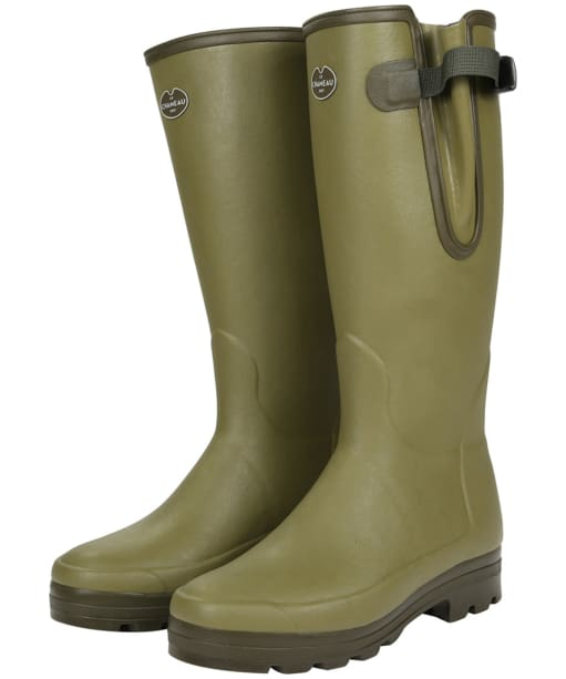Le Chameau Vierzonord - Mens XL Calf Wellingtons - Green