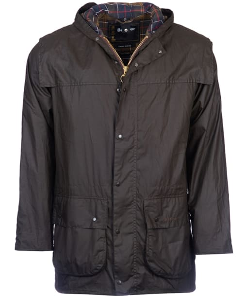 Barbour Classic Durham Jacket- Olive | Classic Tartan