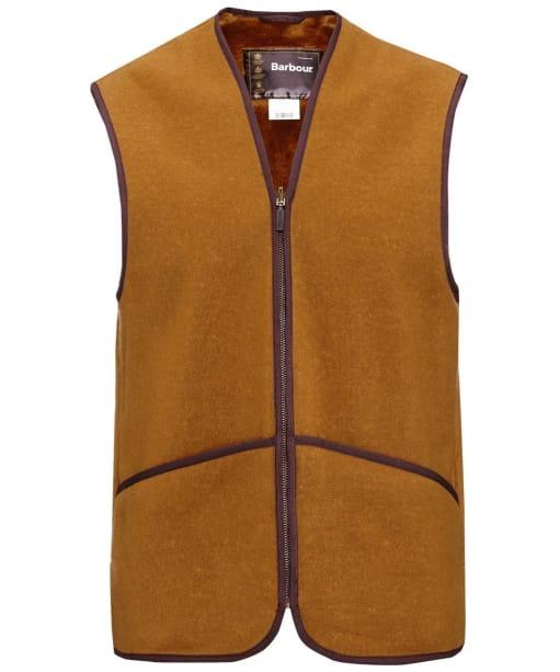Men's Barbour Warm Pile Waistcoat / Zip-In Liner - Brown