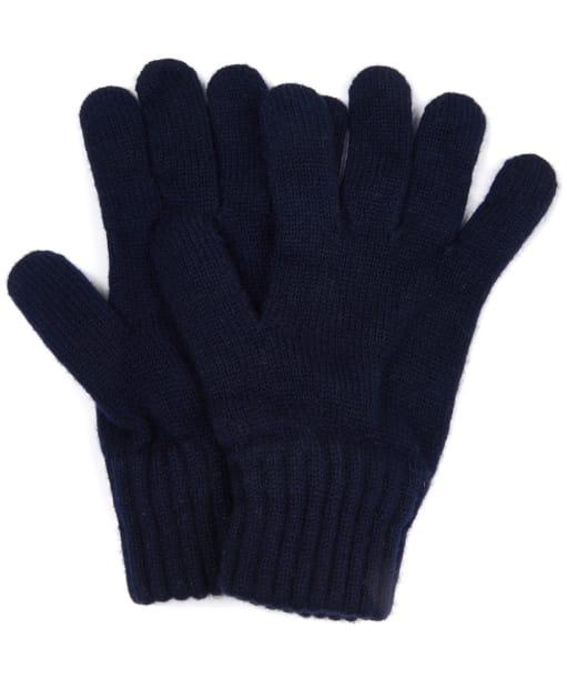 Men's Barbour Lambswool Gloves - Navy