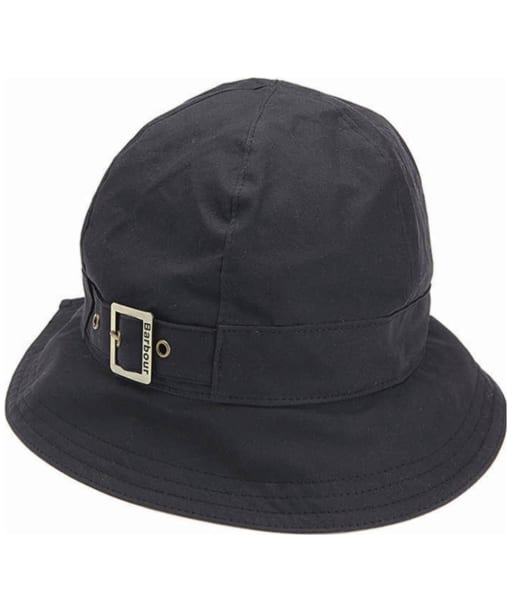 Womens Barbour Wax New Trench Hat - Black