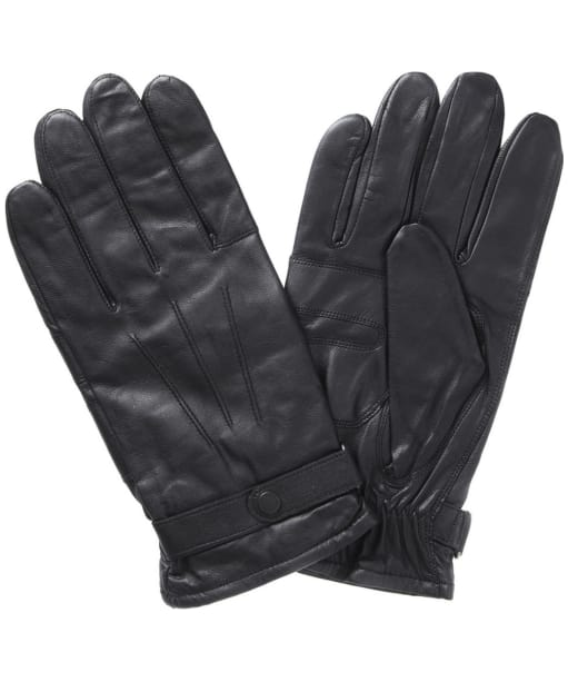 Barbour Burnished Leather Insulated Gloves- Black