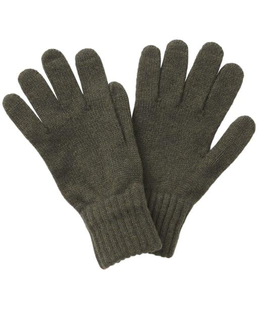 Men's Barbour Lambswool Gloves - Olive