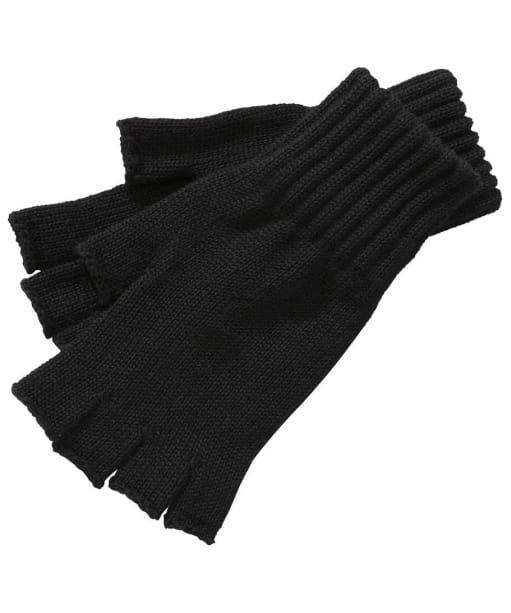 Barbour Fingerless Gloves- Black