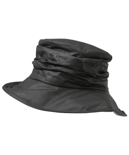Womens Barbour Wax Sport Hat - Black