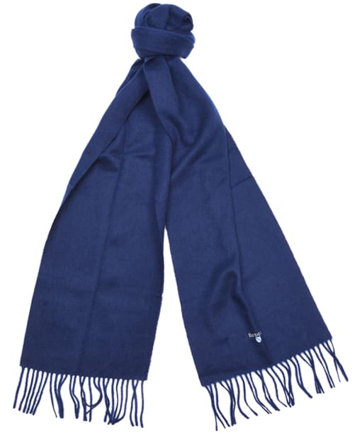 Barbour Plain Lambswool Scarf- Navy