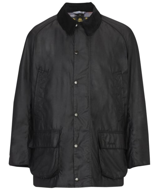 Men's Barbour Bristol Waxed Jacket - Black