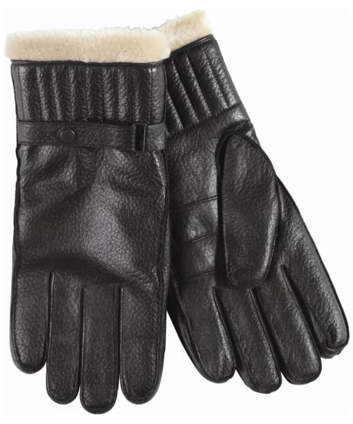 Barbour Mens Leather Utility Glove- Black